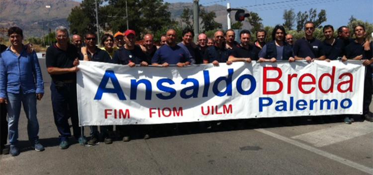 Ansaldo Breda, venerdì 19 manifestazione sotto Palazzo d'Orleans