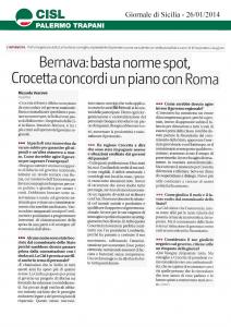 Bernava: basta norme spot, Crocetta concordi un piano con Roma