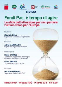 FONDI PAC: è tempo di agire – Hotel Garden Pergusa 17/04/2015 ore 9.30