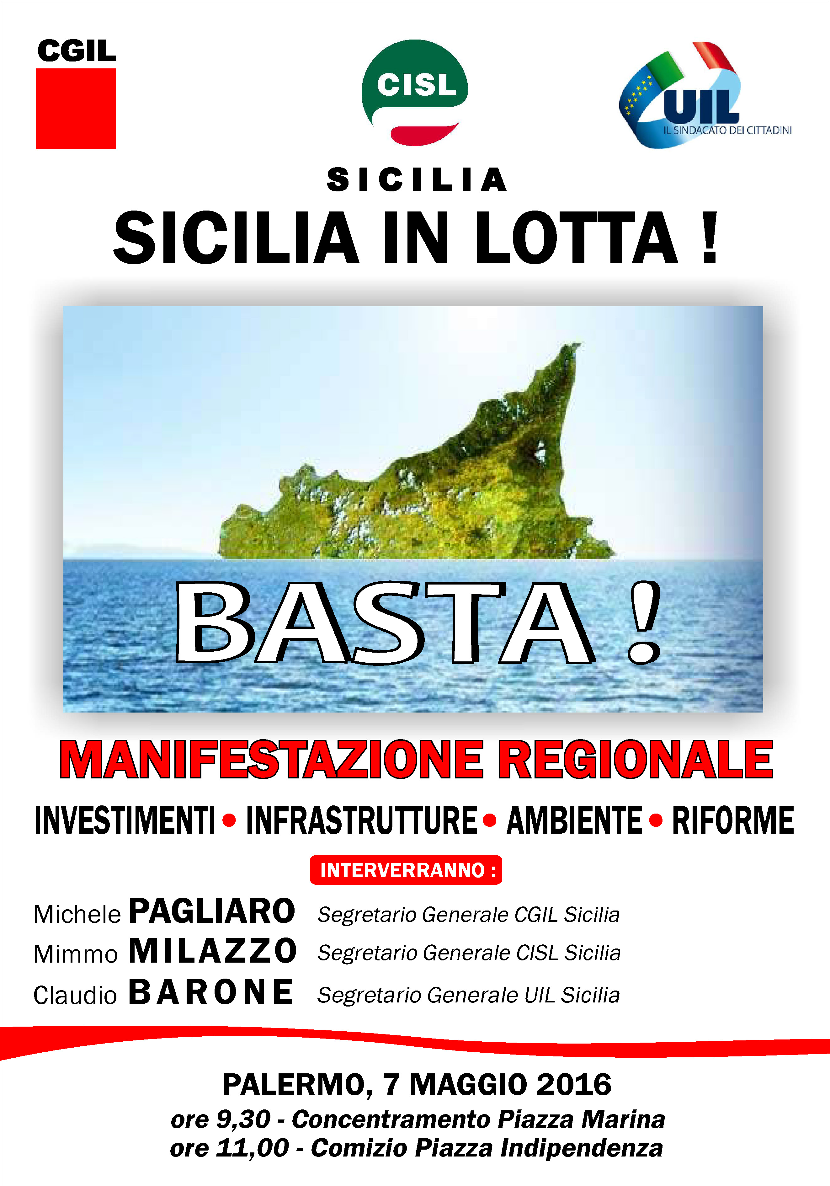 manifestazione regionale unitaria 7 maggio