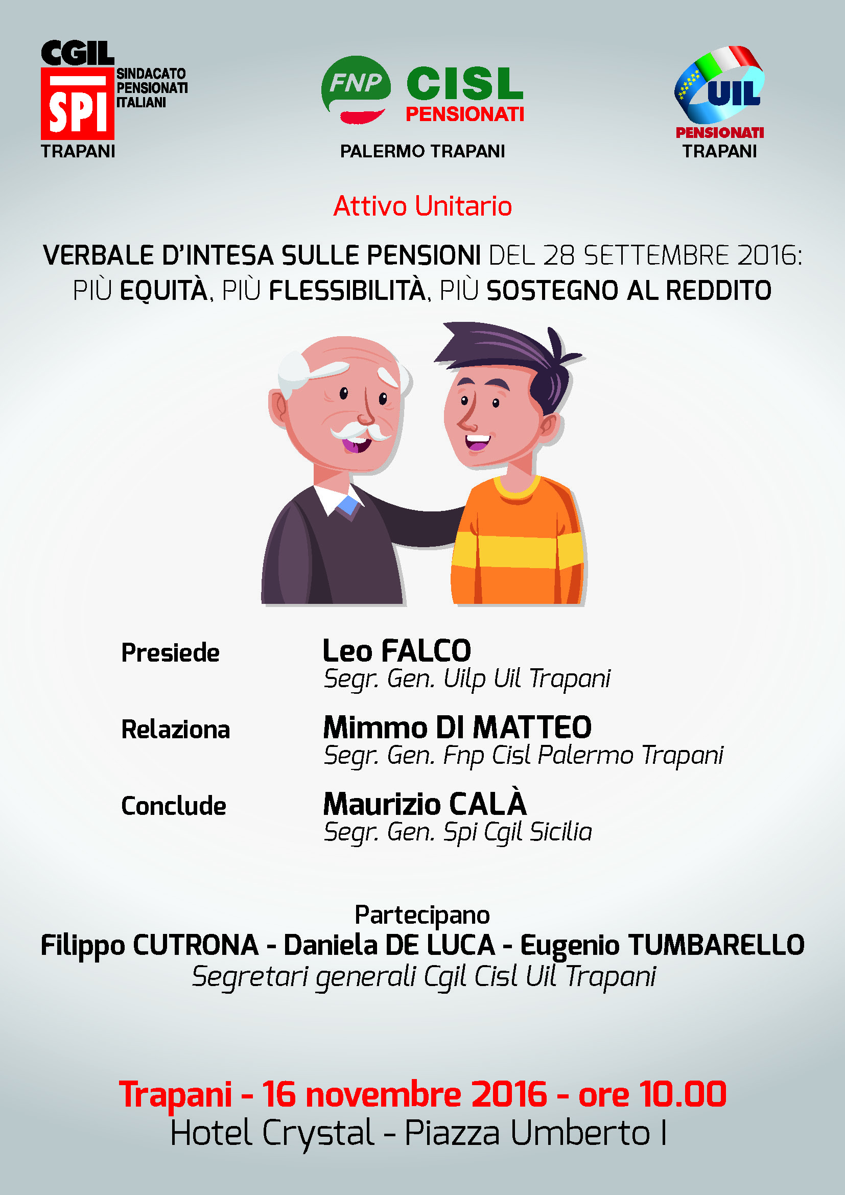ATTIVO UNITARIO PENSIONATI TRAPANI 16102016