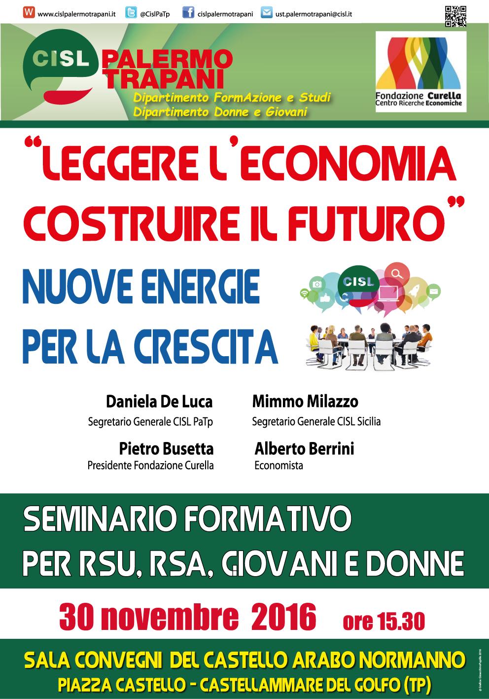 SEMINARIO FORMATIVO: CASTELLAMMARE DEL GOLFO 30/11/2016